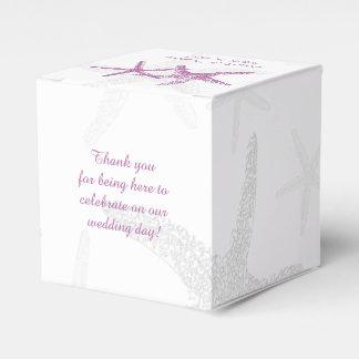 Lila Starfish auf weißem Strand-Gastgeschenk Geschenkkartons