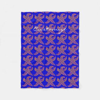 lila Starfish Thunder_Cove Blau Fleecedecke