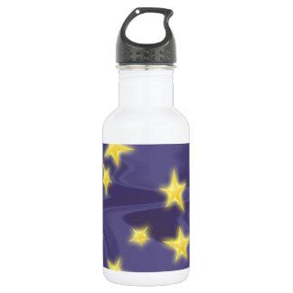 Lila Starry Nacht; Gelbe Sternchen-Vereinbarung Trinkflaschen