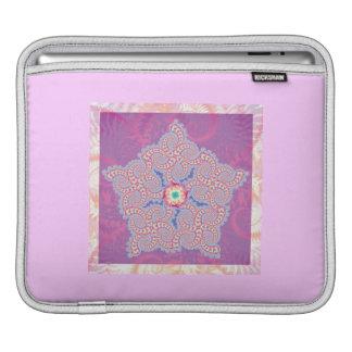Lila Stern-Fraktal-Muster iPad Sleeve