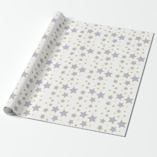 Lila Stern-Verpackungs-Papier Geschenkpapier