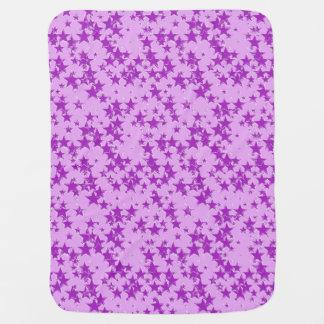 Lila Sterne auf einem Lavendelhintergrund Babydecke