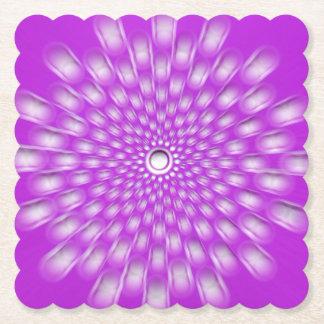 Lila Sternexplosion Mandala-Untersetzer Untersetzer