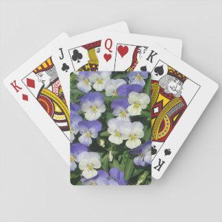 Lila Stiefmütterchen Spielkarten