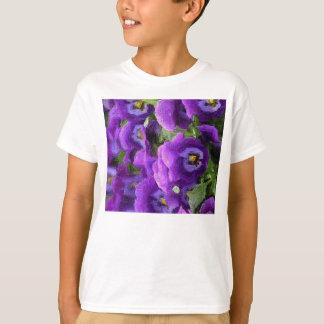 Lila Stiefmütterchen-T - Shirt