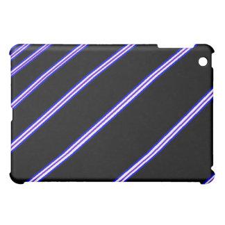 Lila Streifen Ich-Auflage Kasten iPad Mini Hülle