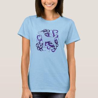 Lila Strudel Plott Jagdhund T-Shirt