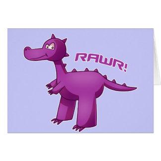Lila T-Rex Karte