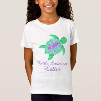 Lila T - Shirt der grünen Schildkröte der kleinen