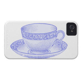 Lila Teacup iPhone 4 Cover
