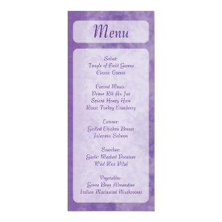 Lila Themagestellart-Menükarten 10,2 X 23,5 Cm Einladungskarte