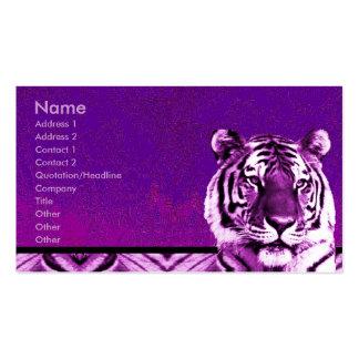 Lila Tiger-Geschäfts-Karte Visitenkartenvorlage