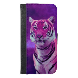 Lila Tiger iPhone 6/6s Plus Geldbeutel Hülle