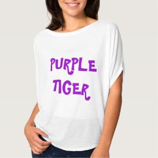 Lila Tiger-Text-Fluss-T-Shirt T-Shirt