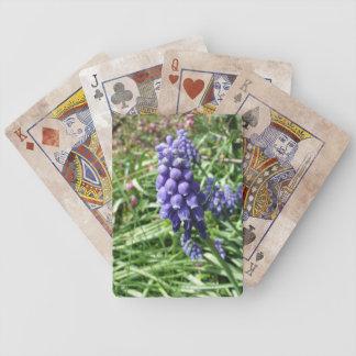 Lila Trauben-Hyazinthen-BlumeMuscari Bicycle Spielkarten