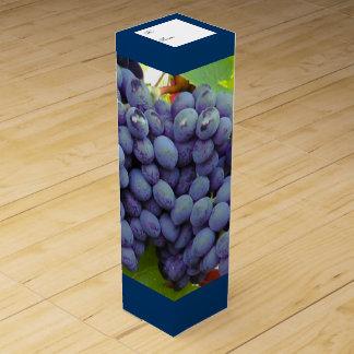 Lila Trauben-kundenspezifischer Wein-Kasten Weinschachteln