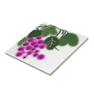 lila Trauben und Grün-Blätter Keramikfliese