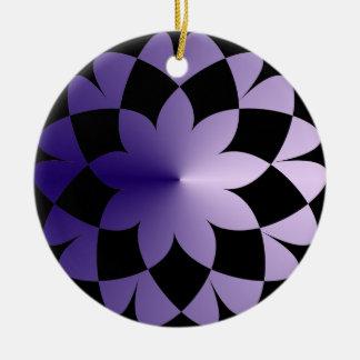 Lila Traum Rundes Keramik Ornament