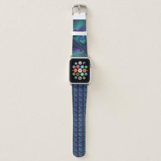 Lila trifft Türkis-modernes abstraktes Apple Watch Armband