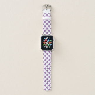 Lila Tupfen Apple Watch Armband