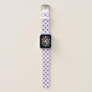 Lila Tupfen Apple Watch Armband