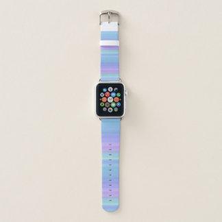 Lila Türkis-blaues Grün-Pastell-Streifen Apple Watch Armband