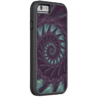 Lila u. Aqua-gewundener Fraktal Xtreme iPhone 6 Tough Xtreme iPhone 6 Hülle