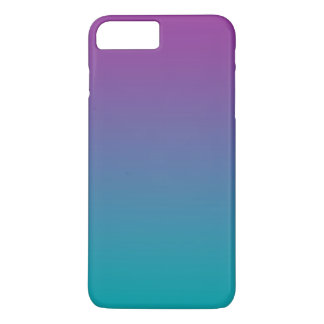 Lila u. aquamarines Ombre iPhone 8 Plus/7 Plus Hülle