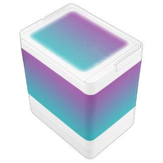 Lila u. aquamarines Ombre Kühlbox