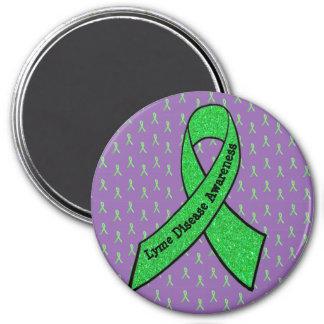 Lila u. Limoner grüner Lyme Runder Magnet 7,6 Cm