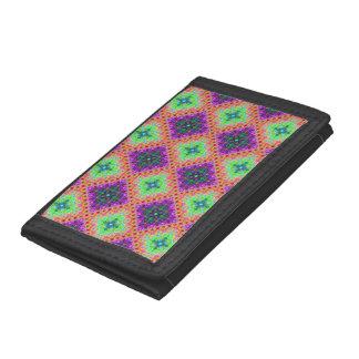 Lila u. Limones grünes Checkered Fraktal-Muster