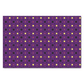 Lila u. multi Größen-Polka-Punkte 02 Seidenpapier