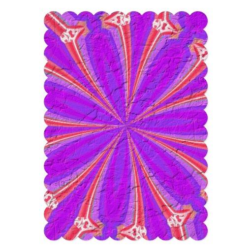 Lila u. rosa modernes Muster Individuelle Ankündigskarten