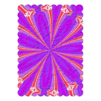 Lila u. rosa modernes Muster 12,7 X 17,8 Cm Einladungskarte