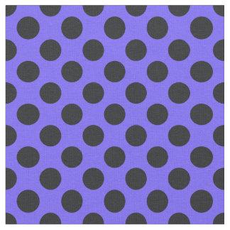 Lila u. schwarzes Polka-Punkt-Gewebe Stoff