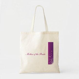 Lila u. weiße Hochzeits-Taschen-Mutter der Braut Tragetasche