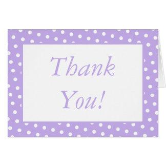 Lila u. weißer Punkt danken Ihnen, Briefpapier zu Karte