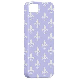 Lila u. weißes Lilien-Muster iPhone 5 Hüllen