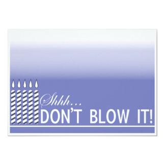 Lila Überraschungs-50. Geburtstags-Party 12,7 X 17,8 Cm Einladungskarte