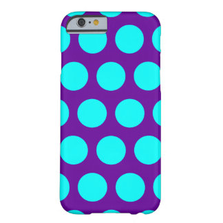 Lila und Aqua-Polka-Punkte Barely There iPhone 6 Hülle