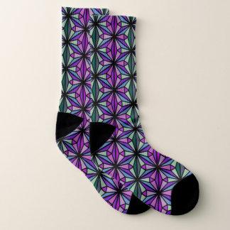 Lila und Aqua-stilvolle geometrische Socken