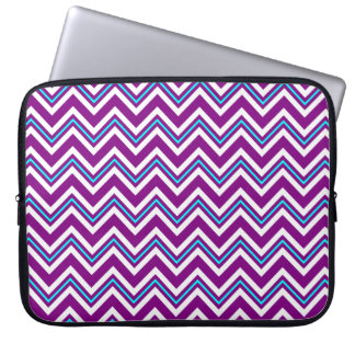 Lila und Aqua-Zickzack Laptop-Hülse Laptop Sleeve