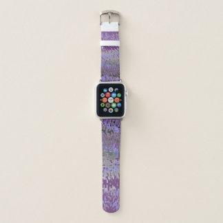 Lila und Blau verblassen Sie zum Grau Apple Watch Armband