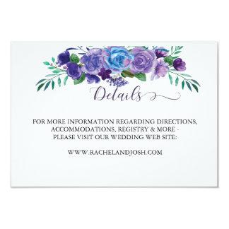 Lila und blaue Blumeneinzelkarte Karte