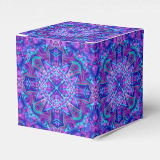 Lila und blauer Bevorzugungs-Kasten des Geschenkschachtel