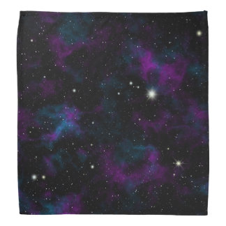 Lila und blauer GalaxieBandana Kopftuch