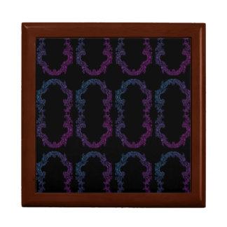lila und blauer gerahmter Andenkenkasten Erinnerungskiste