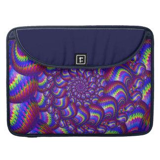 Lila und blaues Ball-Fraktal-Muster Sleeve Für MacBook Pro