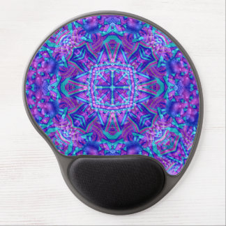 Lila und blaues Vintages Kaleidoskop-Gel Mousepad