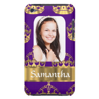 Lila und der Goldkrone personalisiertes Foto Barely There iPod Cover